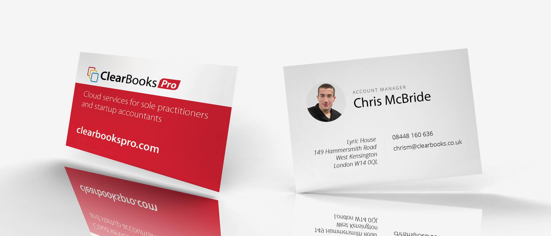 Clear Books print design