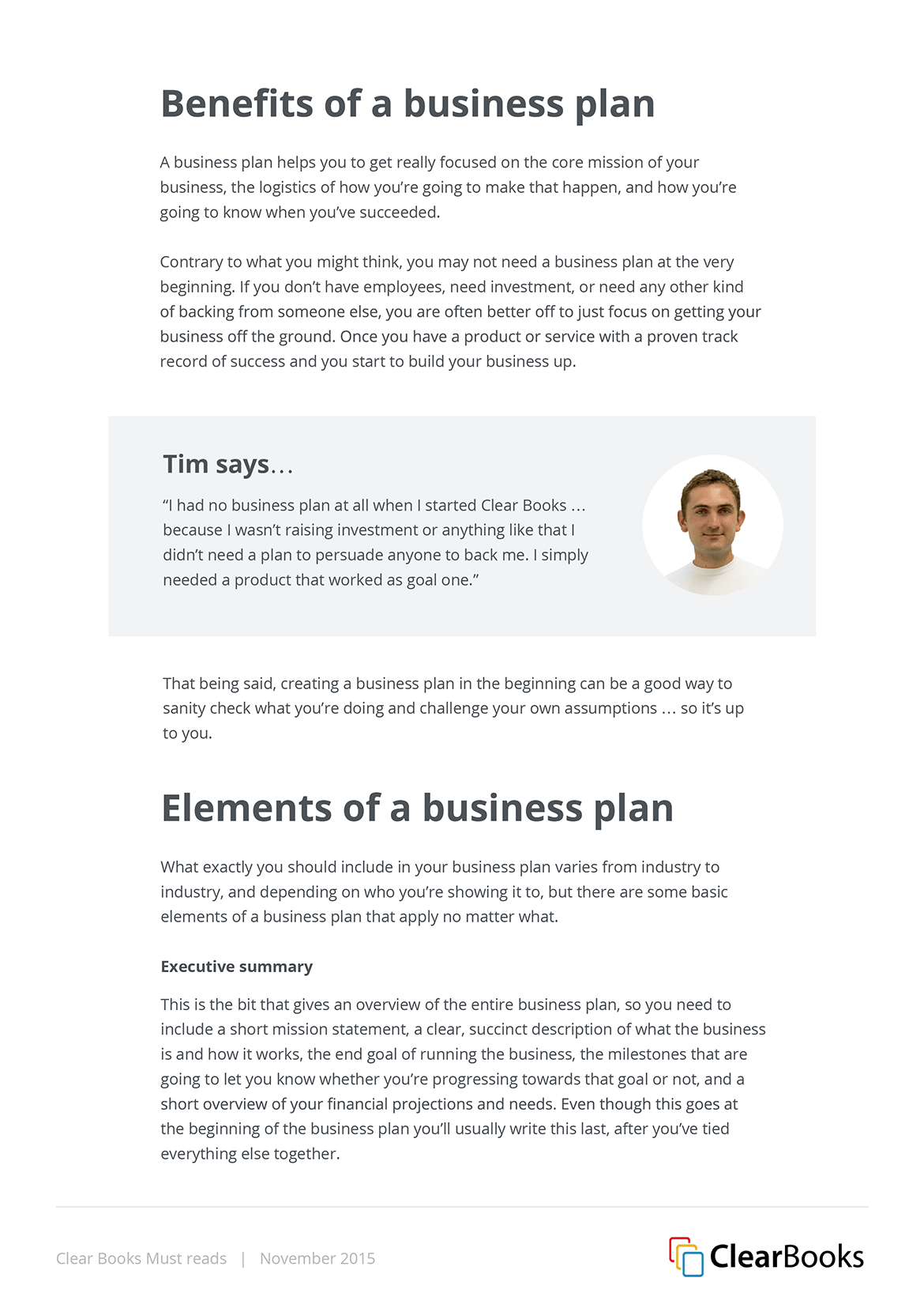 Clear Books white papers and infographics