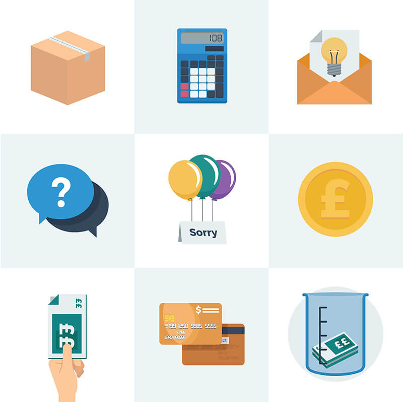 various business themed illustrations