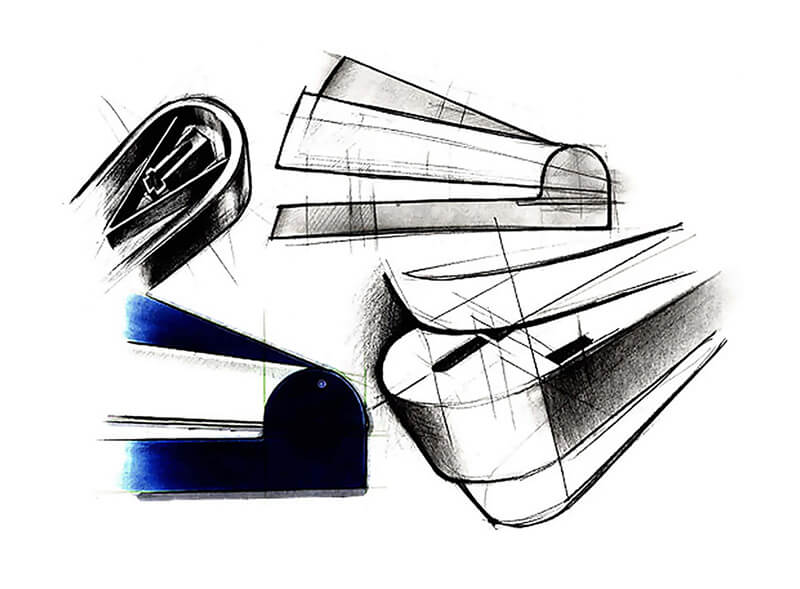 sketch study of the Magic Stapler
